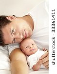 baby and father | Shutterstock . vector #33361411