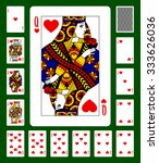 playing cards of clubs suit and ... | Shutterstock . vector #333626036
