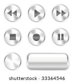 vector player buttons. to see... | Shutterstock .eps vector #33364546