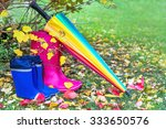 autumn. two pairs of rubber... | Shutterstock . vector #333650576