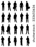 set of people silhouettes from... | Shutterstock .eps vector #333653636