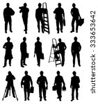 set of illustration workers... | Shutterstock .eps vector #333653642