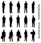 set of businesspeople... | Shutterstock .eps vector #333654056