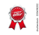 limited time offer red vector...   Shutterstock .eps vector #333658202