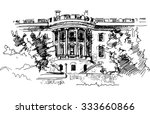 Ink Drawing Of White House...