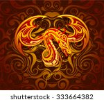 dragon as symbol for year 2012... | Shutterstock .eps vector #333664382