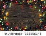 Christmas With Lights On The...