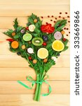 cute colourful bouquet of... | Shutterstock . vector #333669866