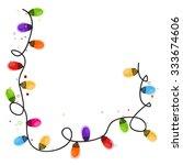 colorful christmas light bulb... | Shutterstock .eps vector #333674606