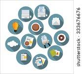 modern flat design icon set for ... | Shutterstock .eps vector #333676676