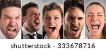 banner faces of the desperate...   Shutterstock . vector #333678716