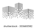 abstract black building and... | Shutterstock .eps vector #333683582