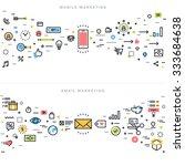 flat line design concepts for... | Shutterstock .eps vector #333684638