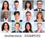 smiling business women and men... | Shutterstock . vector #333689192