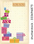 greetings card for shopping... | Shutterstock .eps vector #333696875