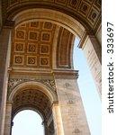 inside of the arc de triomphe ... | Shutterstock . vector #333697