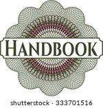 handbook rubber grunge stamp | Shutterstock .eps vector #333701516