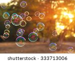 Soap Bubbles Into The Sunset...