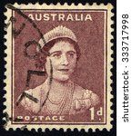 australia   circa 1937  a stamp ... | Shutterstock . vector #333717998