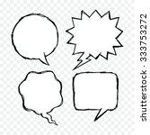 blank speech bubbles. doodle...   Shutterstock .eps vector #333753272