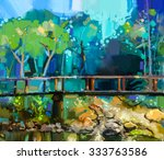 Oil Painting Landscape With...