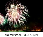 the 4th of july fireworks over... | Shutterstock . vector #33377134