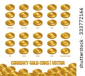 currency coins gold | Shutterstock .eps vector #333772166