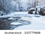 River With Snow And Ice In The...
