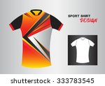 red sport shirt design vector... | Shutterstock .eps vector #333783545