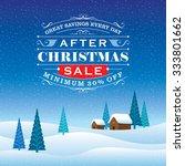 winter sale poster design... | Shutterstock .eps vector #333801662
