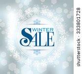 winter sale poster design... | Shutterstock .eps vector #333801728