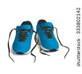 blue sport shoes. running shoe  ... | Shutterstock .eps vector #333802142