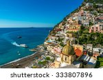 ship is approaching to positano ...   Shutterstock . vector #333807896