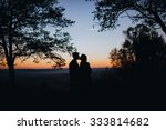 man and woman standing in a...   Shutterstock . vector #333814682
