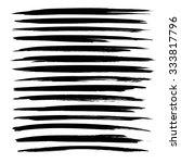 black long textured strokes... | Shutterstock .eps vector #333817796
