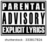 parental advisory explicit... | Shutterstock .eps vector #333817826