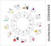 diagram food sources of...   Shutterstock .eps vector #333844868