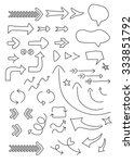 vector set of hand drawn doodle ... | Shutterstock .eps vector #333851792