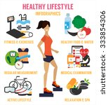 healthy lifestyle infographic.... | Shutterstock .eps vector #333854306