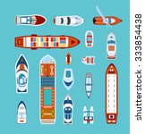 various ships and boats types... | Shutterstock .eps vector #333854438