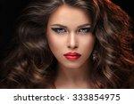 beautiful girl in the studio | Shutterstock . vector #333854975