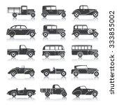 retro style cars black... | Shutterstock .eps vector #333855002