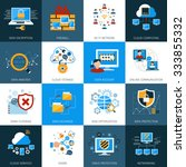 network security and data... | Shutterstock .eps vector #333855332