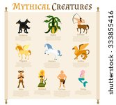 mythical creatures infographics ... | Shutterstock .eps vector #333855416