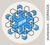 vector new year 2016 geometric... | Shutterstock .eps vector #333856226