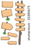 wooden roadsigns collection  ... | Shutterstock .eps vector #33385675