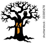 Spooky Tree Silhouette   Vecto...