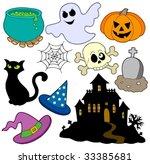 various halloween images 2  ... | Shutterstock .eps vector #33385681