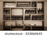 Empty Bottles Decorative On The ...