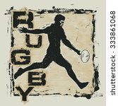 retro design rugby for t shirt... | Shutterstock .eps vector #333861068